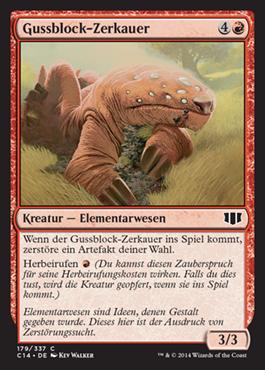 Gussblock-Zerkauer