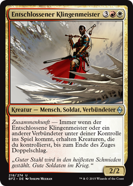 Entschlossener Klingenmeister