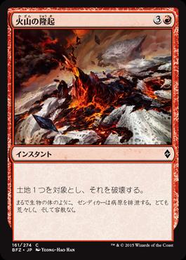 火山の隆起
