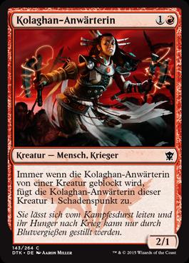Kolaghan-Anwärterin