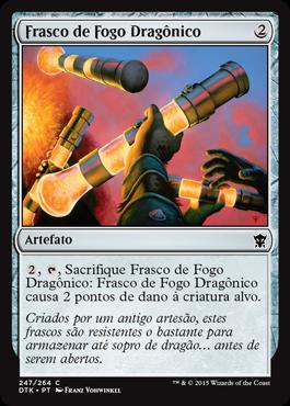 Frasco de Fogo Dragônico