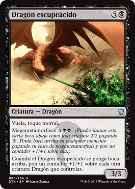 Dragón escupeácido
