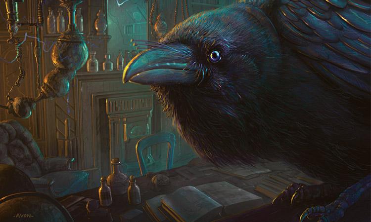 Znalezione obrazy dla zapytania raven men art
