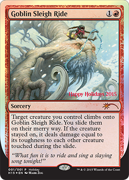 The Wizards Of The Coast Holiday Promo Card Magic The Gathering
