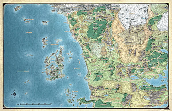 Map of Faerün | Dungeons & Dragons D World Map on