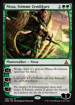Nissa, Stimme Zendikars
