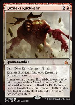 Kozileks Rückkehr