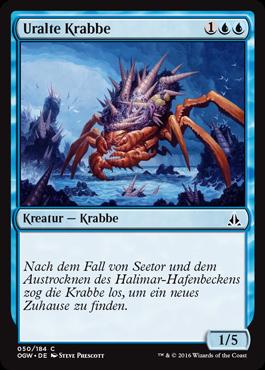 Uralte Krabbe
