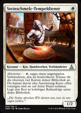 Steinschmelz-Tempeldiener
