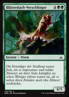 Blätterdach-Verschlinger