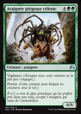 Araignée piégeuse céleste