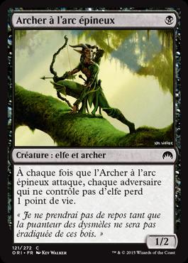 Archer à l'arc épineux