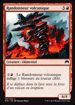 Randonneur volcanique