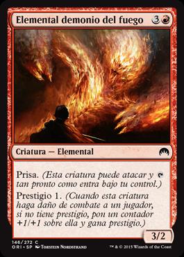 Elemental demonio del fuego