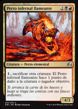 Perro infernal llameante