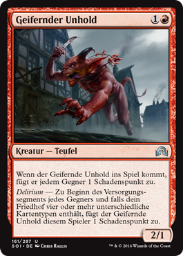 Geifernder Unhold