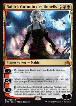 Nahiri, Vorbotin des Unheils