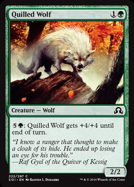 Quilled Wolf
