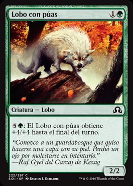 Lobo con púas