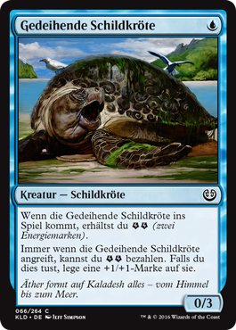 Gedeihende Schildkröte