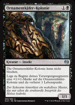 Ornamentkäfer-Kolonie