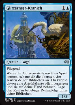 Glitzernest-Kranich
