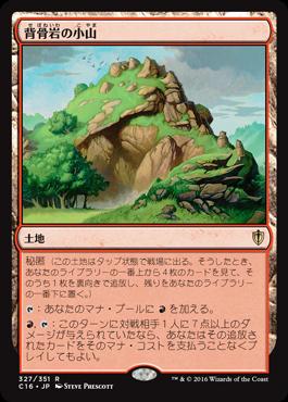 背骨岩の小山