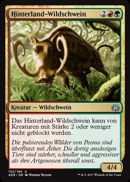 Hinterland-Wildschwein