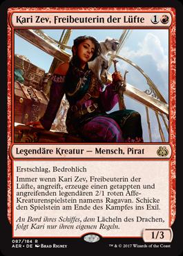 Kari Zev, Freibeuterin der Lüfte