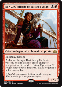 Kari Zev, pillarde de vaisseau volant