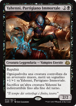 Yahenni, Partigiano Immortale
