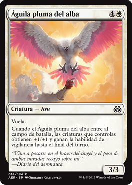 Águila pluma del alba