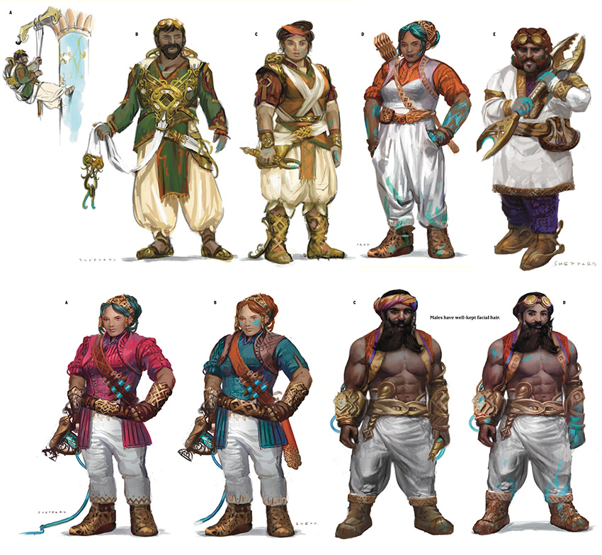 Dwarves concept art