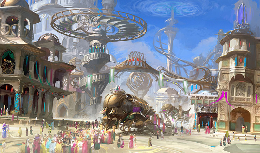 Concept art of the Inventors' Fair