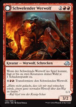Schwelender Werwolf