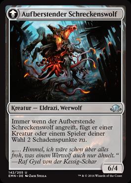 Aufberstender Schreckenswolf