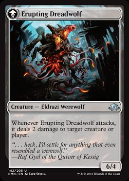 《噴出する戦慄狼/Erupting Dreadwolf》