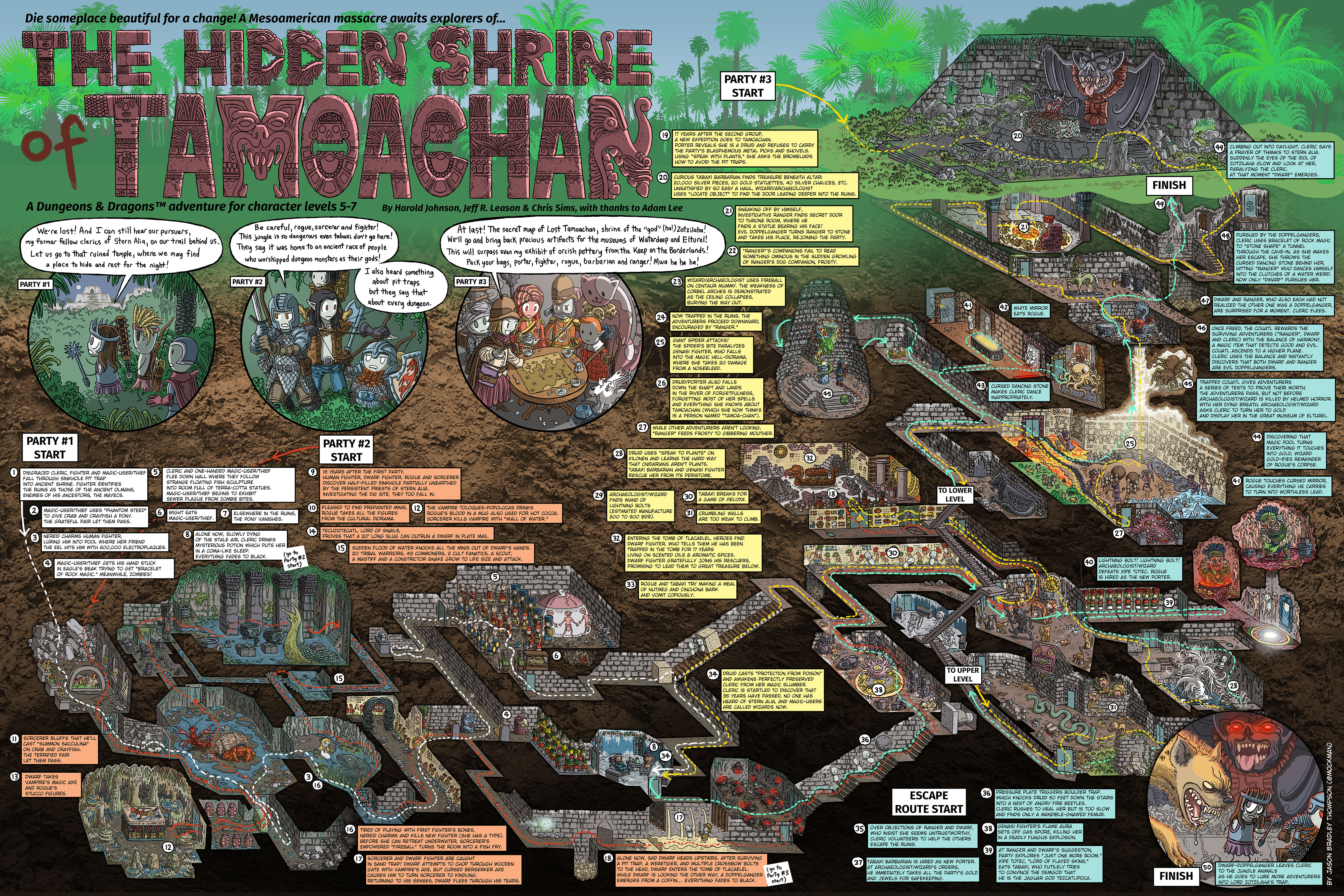 rended press list of d d module walkthrough maps by jason b thompson