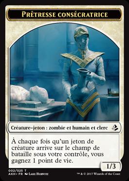 Avant-Premières Amonkhet - jeton Prêtresse consécratrice
