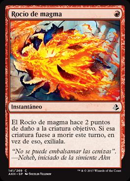 Rocío de magma