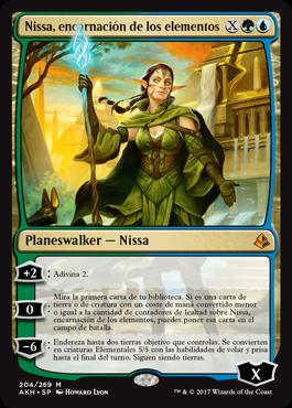 Nissa, encarnación de los elementos