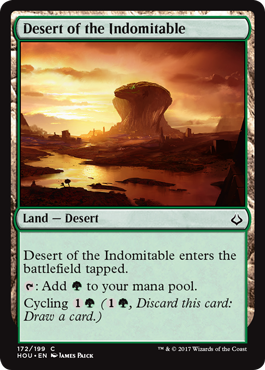 Hour of Devastation features a number of nonbasic lands with the land type  Desert 3503c2f2ff2a