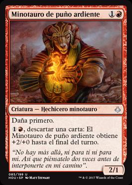 Minotauro de puño ardiente