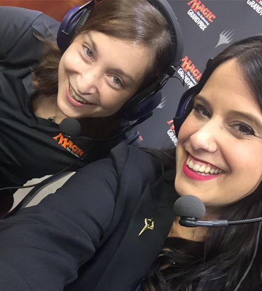 Melissa DeTora (left) and Maria Bartholdi made Magic coverage history at Grand Prix Minneapolis!