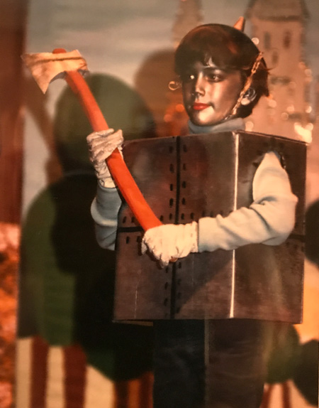 Mark as the Tin Man in his fourth-grade production of The Wizard of Oz.