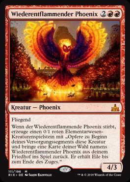 Wiederentflammender Phoenix