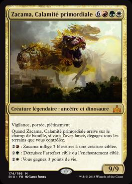 Zacama, Calamité primordiale