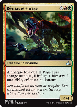 Régisaure enragé