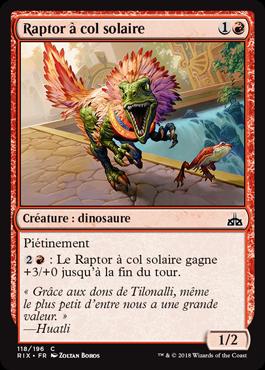 Raptor à col solaire