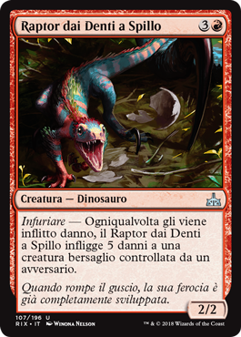 Raptor dai Denti a Spillo